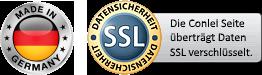 Die Conlei Seite überträgt Ihre Daten SSL verschlüsselt
